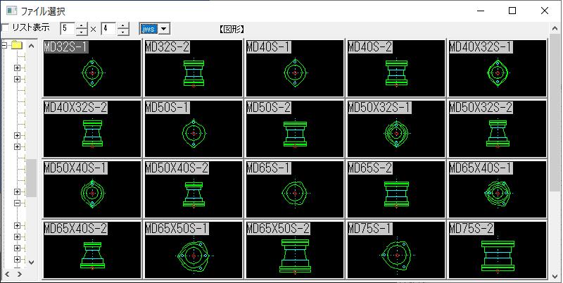 排水 MD継手 ソケット32-75A Jw_cad 図形