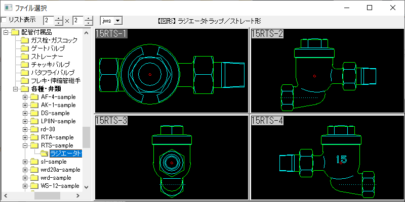 ラジエータトラップ ストレート形 15 – 25A Jw_cad 図形