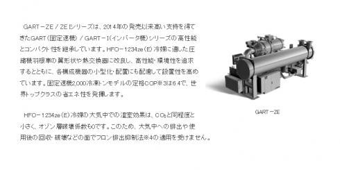 ターボ冷凍機 GART-ZEシリーズ