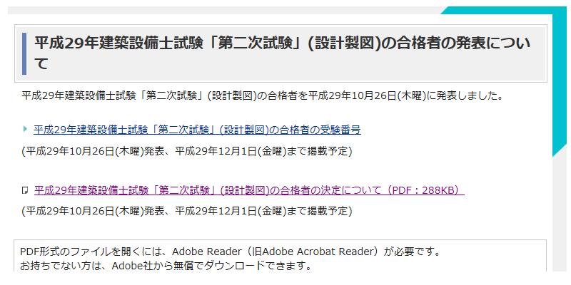 平成29年建築設備士試験