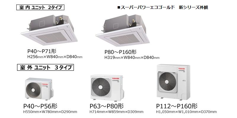 東芝キヤリア 店舗オフィス用エアコン 新スーパーパワーエコゴールド