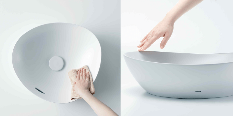 TOTO 新素材と高いデザイン性のベッセル式洗面器TAを新発売