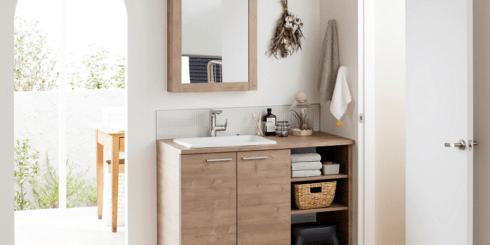 TOTO 造作家具のような洗面空間、新「drena ドレーナ」発売